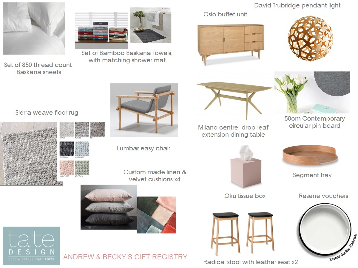 Our Gift Registry [Tate Design]